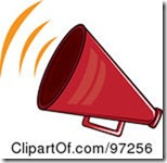 97256-Royalty-Free-RF-Clipart-Illustration-Of-A-Noisy-Red-Megaphone-With-Sound-Waves