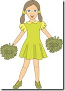 Young Girl Cheerleader Clipart